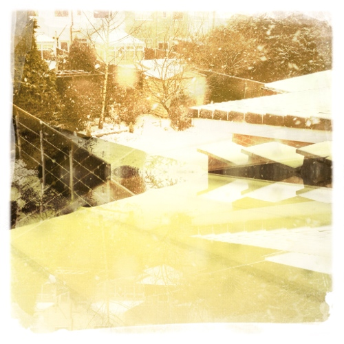 Hipstamatic photo - winter in suburbia