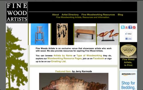 Fine wood artists website