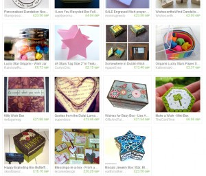 screen shot etsy treasury