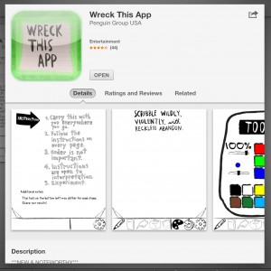 Wreck this app iTunes screenshot
