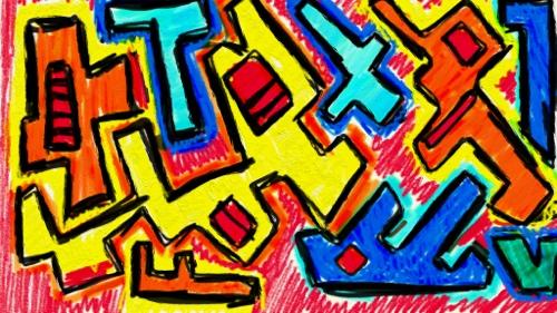 Yellow doodle