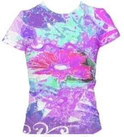 Floral mashup tee shirt