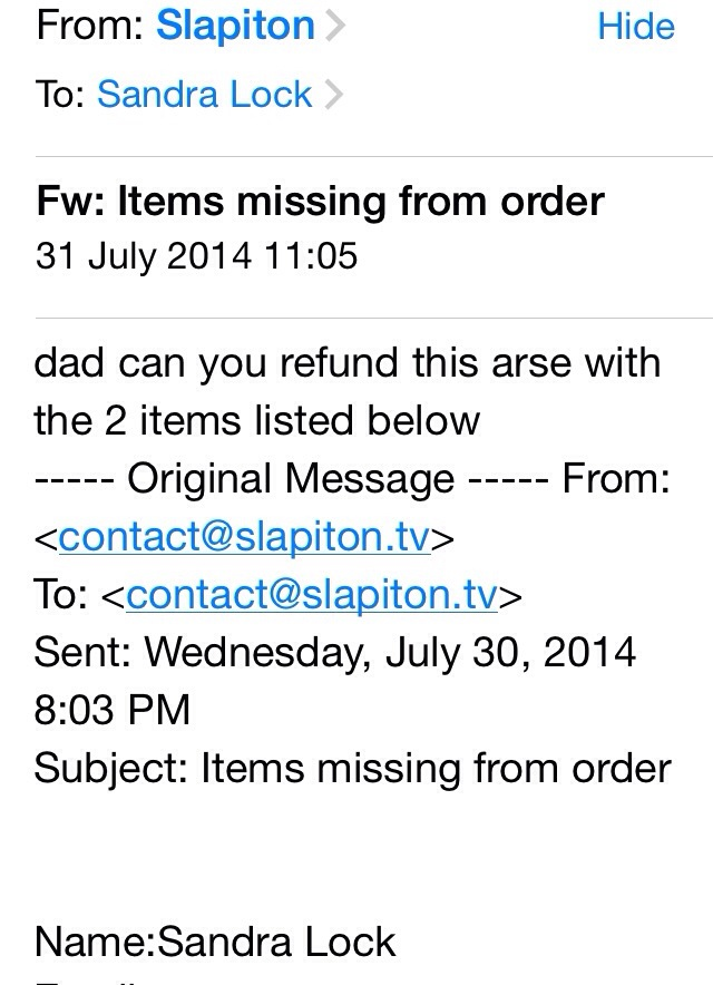 Email from slapiton