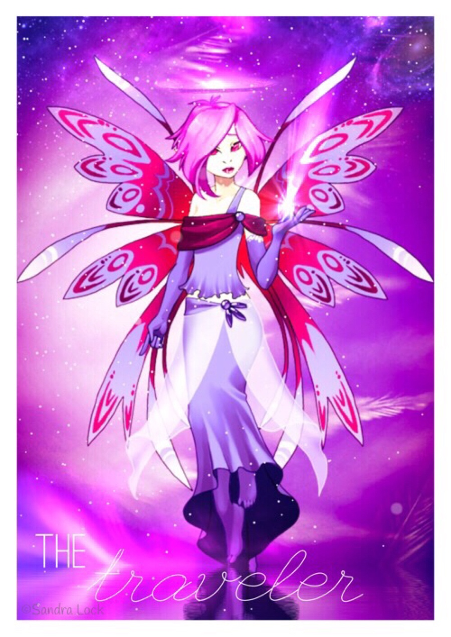 Purple traveller fairy